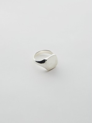 WEISS Square Signet Ring Silver wei-rgsv-06b