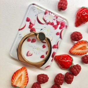 赤い果実のスマホリング