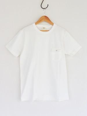 Jackman ジャックマンJM5550 POCKET TEE ポケットTシャツ WHITE