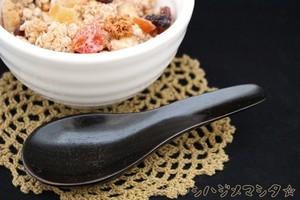 【在庫処分20%OFF】レンゲ(黒) / CHINESSE SPOON(BLACK)