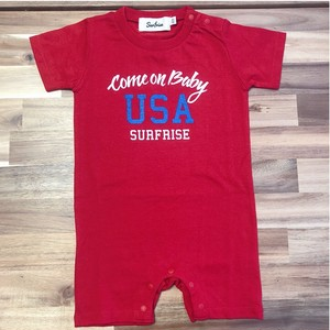 ★Baby★ Come on baby USA Rompers - Red