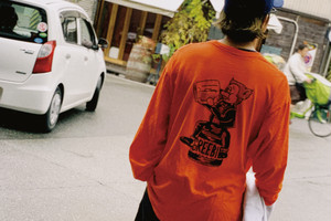 BeerBear L/S Tee【White/Orange】