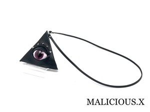 eye triangle coin case / dark magenta