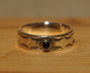 stamp work onyx ring 2