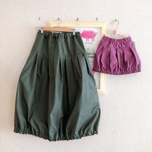 【オーダーのお品】親子でバルーンスカート(オリーブ&パープル)