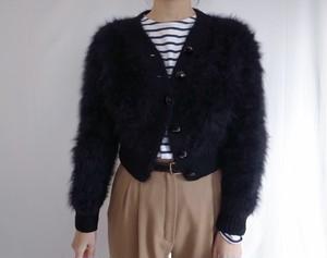 Vintage Black Fuzzy Angora Cardigan