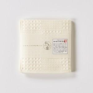 わた音ハンカチーフ/ブロックワッフル織り/生成(キナリ)1-65611-86-OW