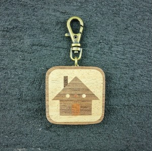 wooden inlaid charm IH-025-WT