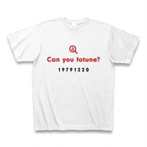 占ってもらいたいアピールTシャツB(Can you fotune?占いアイコン付き/1979年12月20日生まれ用)