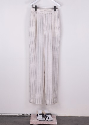 HERRINGBONE STRIPE PANTS [BLK]