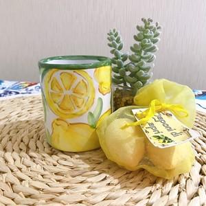 マヨリカ焼き カップ レモン柄