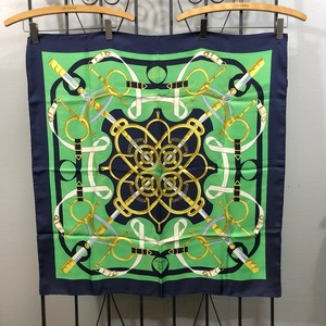 .HERMES CARRES90 Pellier LARGE SIZE SILK 100% SCARF MADE IN FRANCE/エルメスカレ90 ペリエ シルク100%大判スカーフ 2000000030340