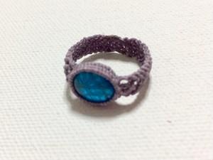 ブルーアパタイトのリング