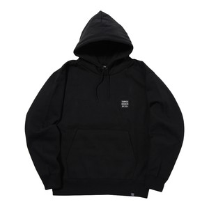 EMBROIDERY LOGO PULL PARKA (BLACK)[TH8A-024]