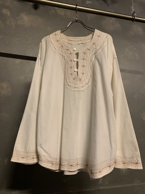 """white color"" embroidery tunic"