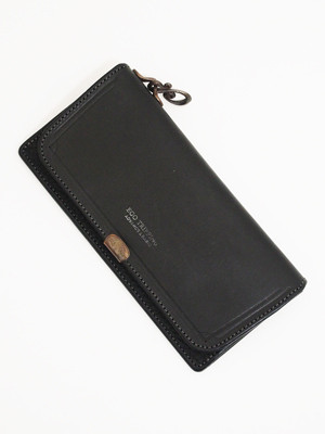 EGO TRIPPING×Dual SADDLE LEATHER LONG WALLET / BLACK   693300-05