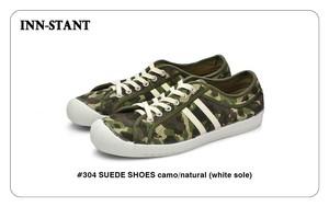 #304 SUEDE SHOES camo/natural (white sole) INN-STANT インスタント 【消費税込・送料無料】