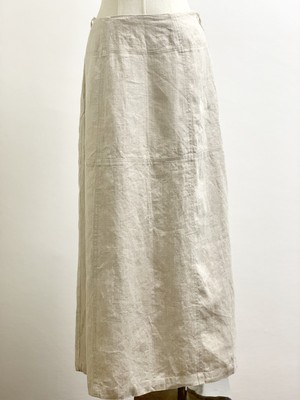 Old Linen Switching Long Skirt