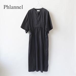 Phlannel/フランネル・High Count Yarn Twill Cloth Tunic Dress