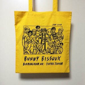 BUNNY BISSOUX FAN CLUB - トートバッグ - YELLOW