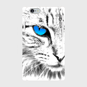 #000-006 iPhone8対応 動物系・ネコ 《See what the pupil》iPhoneケース・スマホケース 全キャリア対応 Xperia ARROWS AQUOS