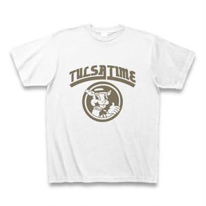 送料無料 タルサタイム Tulsa Time ビッグロゴ Tシャツ ホワイト/グレー S M L XL