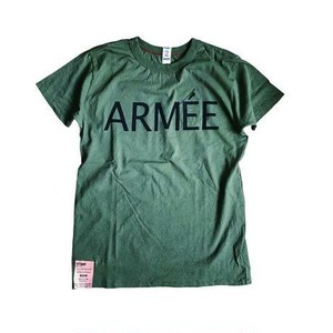"afterdark / アフターダーク | ""ARMEE"" print D-Pocket Tee - Army"