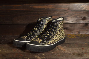 """AT-DIRTY(アットダーティ) / SNEAKER MODEL """"MILE"""" (LEOPARD) Type : HIGH"""