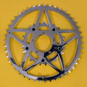 受注製作⭐️星型のリング 45Tx25Tカンパ・シマノ9-11Spd用