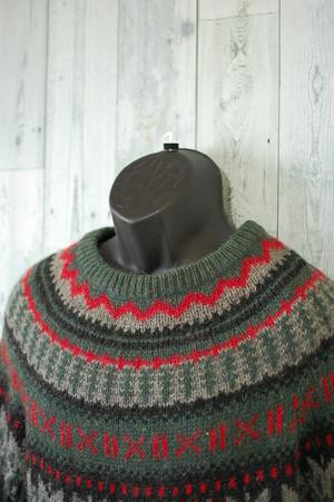 Woolrich 80's ノルディック柄セーター RankC☆アメカジファッション
