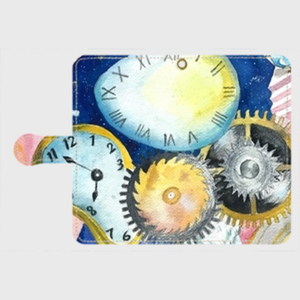 【M】Clock To You TYPEB/手帳型スマホケースiPhone5/5s/6/6s/7/SE/X/XS/、AndroidMサイズ