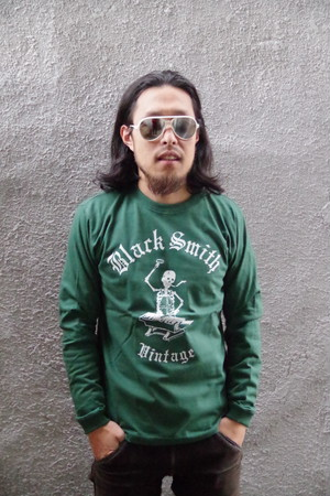 Black Smith ORIGINAL LONG SLEEVE T-Shirts(Green)