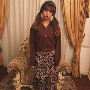 vintage button cardigan