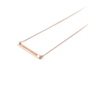 MMD short bar necklace / light