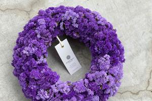 Statice Wreath Violet 08 | スターチスリース