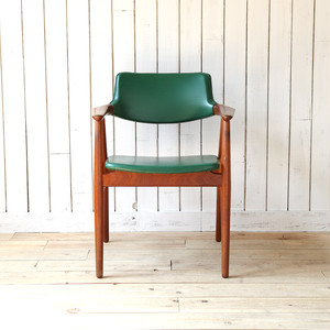 Arm Chair(Green Artificial Leather × Teak)Erik Kirkegaard デンマーク 1960's