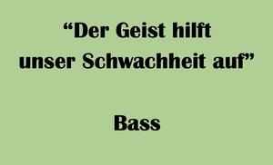 """バス用 """"Der Geist hilft unser Schwachheit auf"""" BWV 226 Karaoke for Bass"""
