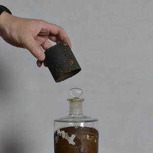 Medicine Bottle / メディシンボトル〈薬瓶・ガラス瓶・瓶・メディスンボトル・一輪挿し・花瓶・フラワーベース・オブジェ〉112083
