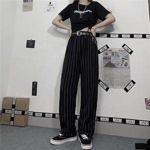 【ボトムス】たて縞ファッションストリート系カジュアルパンツ25968337