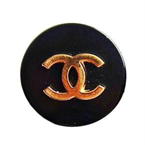 【VINTAGE CHANEL BUTTON】ゴールドココマーク ボタン ブラック 16mm
