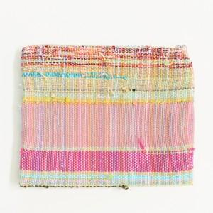 【手織り】フラットポーチ /textile by KOBO-SYU/納田裕加