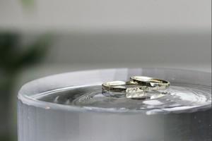 W様 オーダー品 K10GRG手彫りの指輪 ペア