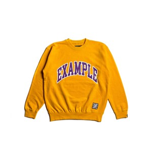 COLLEGE CIRCLE LOGO CREWNECK / YELLOW