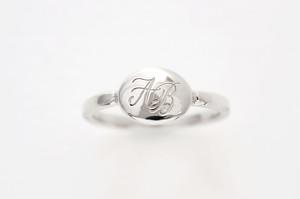 セミオーダー モノグラムジュエリー Ovale Ring-Silver - オーバルリング(シルバー)プラチナコート