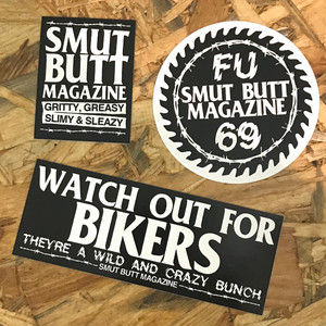 SMUT BUTT MAGAZINE STICKER PACK #01 by Gorgeous George