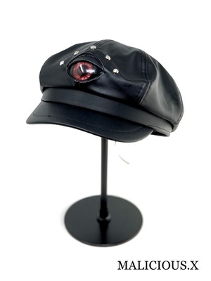 devil eye casquette / red (big size)