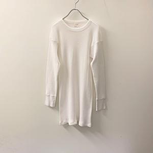 サーマルトップス ホワイト size XL USA製 メンズ 古着