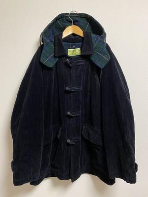 80's〜90's AMERIGO tartan-check corduroy coat
