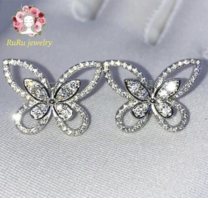 s925 butterfly papillon(pierce)