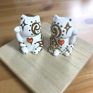 片手【幸せ招きネコ】ヘナっしー(左・右)